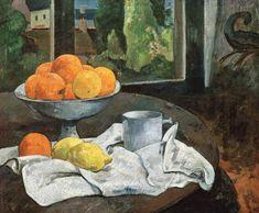 Titolo dell'immagine : Paul Gauguin - Oranges et citrons avec vue