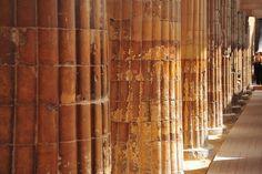 Apenas os puros de coração, podiam entrar em Saqqara quando o complexo e a escola de mistérios Olho de Hórus, funcionavam naquele local. A imponente galeria tem quarenta e oito colunas, sua forma esotérica, é a mesma do DNA humano, vinte pares de coluna estritamente unidas a seus muros, dispostas no sentido em que caminha o sol, sobre o feixe de avanço da energia, a espiral da molécula.