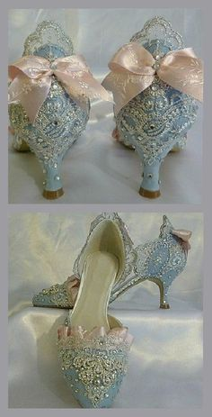 Idanis Vazquez • m y w a r d r o b e Beaded Shoes, Heart Attack Recovery, Blue Heels, Shoes Heels, Shoe Boots, Pretty Shoes, Beautiful Shoes, Cute Shoes, Me Too Shoes