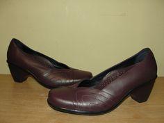 DANSKO Women's Shoes Brown Leather Stitch Accent Heels Pumps Sz US 8.5-9 /EUR 39 #Dansko #PumpsClassics #WeartoWork