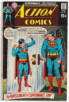 Comic Books For Sale, Dc Comic Books, Comic Book Covers, Comic Art, Old Superman, Superman Comic, Superman Stuff, Comic Superheroes, Superman Family