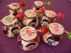 Lily's party....kokeshi party favors