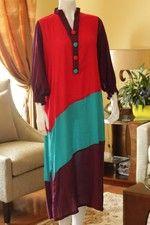 Trendy color blocked long kurti top