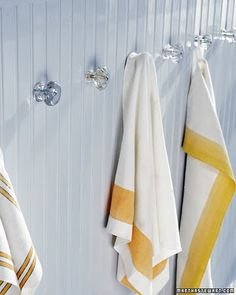 Bath towel hanger idea