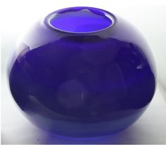 Closed Opaque Cobalt Blue Bowl With an Opaque by ElliottGlassArt, $75.00