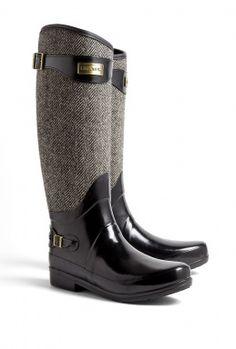 Hunter Regent Apsley Tweed Wellington Boots
