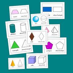 Recursos para el aula: Figuras geométricas Trabajamos las figuras geométricas sencillas como el cuadrado, círculo o triángulo, pero además podemos enseñar Montessori Activities, Educational Activities, Math Meeting, Genius Hour, 3d Shapes, Math Resources, Learn To Draw, Pre School, Cards