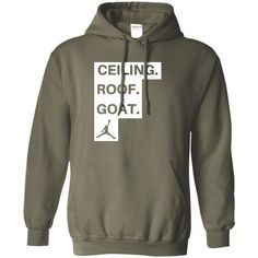 basketball ceiling roof goat Pullover Hoodie 8 oz
