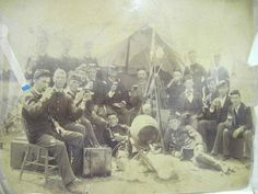 Civil War Photo- look at all the jaunty caps. Farbs ... Just don't research