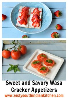Sweet and Savory Wasa Cracker Appetizers easy and kids friendly.  @krogerco #HowDoYouWasa #ad