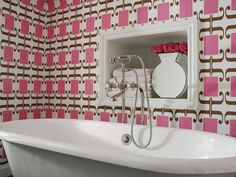 Pink Bathroom Decor Ideas Pictures Tips From Hgtv Hgtv Pink Bathroom Ideas Pink Bathroom Decor, Bathroom Colors, Bathroom Interior, Bathroom Ideas, Bathroom Designs, Pink Bathrooms, Colorful Bathroom, Bathroom Storage, Quirky Bathroom