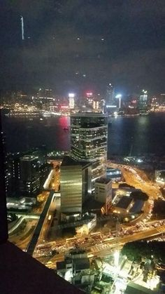 The view from the bar on the 49th floor of the Marriott hotel :)
