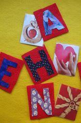 Felt alphabet letters