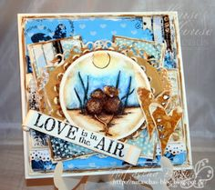 House Mouse card using several stamps for the theme love