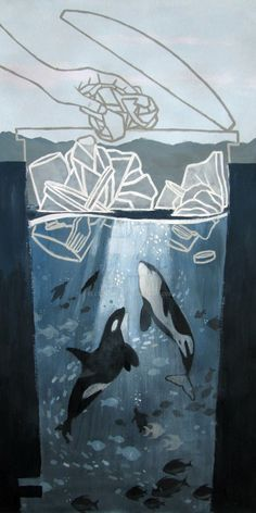 Entry for an oceans pollution awareness contest.