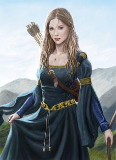 archer, bow and arrow