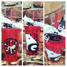 Red+Athens+Love+Tumbler+with+Straw+by+SouthernLeeDesigns+on+Etsy,+$15.00