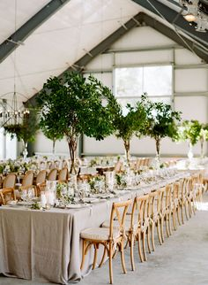 neutral tablescape with greenery