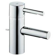Grohe Essence Single Hole Bathroom Sink Faucet Single Handle Finish: Chrome