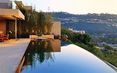 California Pool - A gorgeous infinity pool sitting high in the hills of California.