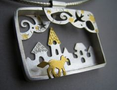 Lucy Palmer Jewellery : Jewellery : Twilight Tales : Twilight Fox Pendant