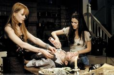 """""""There's a little witch in all of us."""" In the 1998 film Practical Magic, Sandra Bullock and Nicole Kidman play very close, but very different sisters that share the same secret &… Practical Magic Movie, The Fall Movie, Best Halloween Movies, Witches Of East End, Chick Flicks, Actors, Sandra Bullock, Nicole Kidman, Music Tv"""