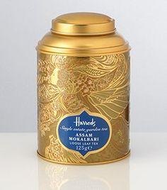 Darjeeling Okayti Treasure Loose-Leaf Tea has a fruity taste and bright golden appearance. Shop tea at Harrods. Harrods, Luxury Packaging, Coffee Packaging, Packaging Design, Chocolate Packaging, Tea Canisters, Tea Tins, Luxury Food, Tea Brands