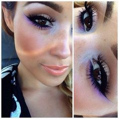 Shimmer w/ Electric Purple eyeliner