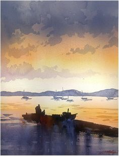 sunset sketch by Thomas Schaller