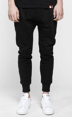 French Terry Black Joggers