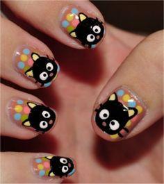 Emo Nail Art, Nail Art Kawaii, Animal Nail Art, Nail Art Hello Kitty, Love Nails, Pretty Nails, Sexy Nails, Fancy Nails, Bling Nails