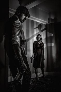 Film Noir by David Crewe, via Film Noir Photography, Cinematic Photography, Dark Photography, Fritz Lang, Style Noir, City Of Angels, The Villain, Pulp Fiction, Light And Shadow