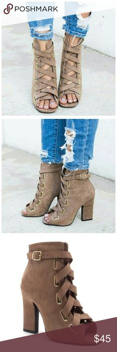 *SALE* New size 7 Lace Up Bootie These are only on sale because I don't like how the heel is glued down. Shoes Ankle Boots & Booties