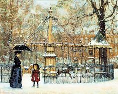 Winter Merry-Go-Round, Alan Maley (1931 – 1995, English) I AM A CHILD-children in art history-blog