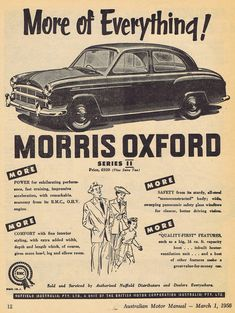 Morris Oxford, Car Advertising, Safety Glass, Commercial Vehicle, Amazing Cars, Old Cars, Cars And Motorcycles, Vintage Posters, Vintage Cars