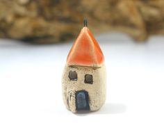 Tiny house charm little cottage jewelry pendant  by orlydesign, $14.00