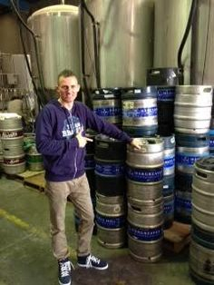 Rob checking out the Hargreaves Hill brewery