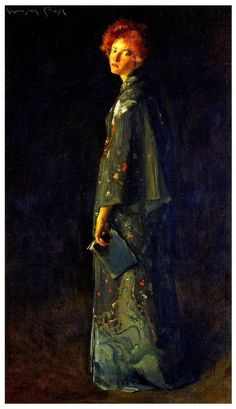 'The girl with a book' by W.Merrit Chase