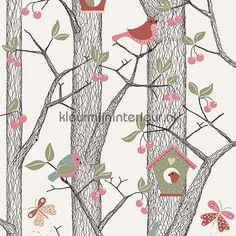 Bomen, vogels, vlinders behang 2652 uit de collectie Lilleby van BN Wallcoverings is verkrijgbaar bij kleurmijninterieur