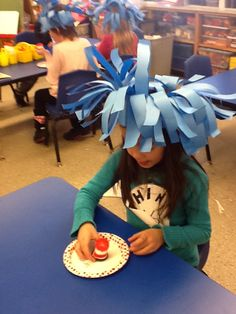 Kinder Kapers: Reading Week Celebrations.  Thing One hats.