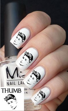 Justin Bieber Nail decal by DesignerNails on Etsy, $3.95