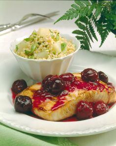 Salmon with Spicy Cherry Sauce- the Perfect Balance of Spicy and Sweet! #NWCherries