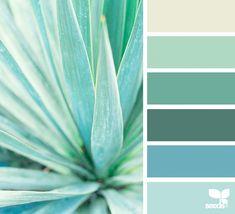 Ideas Succulent Art Painting Design Seeds For 2019 Mint Color Palettes, Green Colour Palette, Colour Schemes, Color Combos, Color Patterns, Design Seeds, Color Psychology, Home And Deco, Color Swatches
