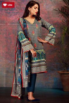 Khaadi B17515-BLUE Mid Summer 2017 - Original Online Shopping Store