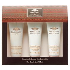 Mandara Spa Honeymilk Spa Essentials: Immerse yourself in the comforting blend of honey and sweet almond oil and be cocooned in a magical spa where the mind and body will be soothed and pampered at timetospa.com