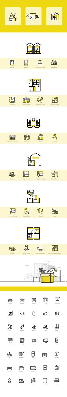 Boxbee Icon Set on Behance #delivery #transfer #home appliances #icons #icondesign #track #order #package