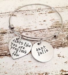 aunt gift, gifts for aunt, mothers day gift, bangle bracelet, aunt jewelry, aunt bracelet, personalized aunt gift, best aunt ever