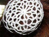 Ballet Lace Crochet Hair Accessory - Bun Cover free crochet pattern