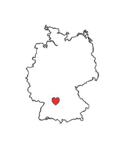 this is gonna be my tattoo. :) It's an outline of the map of Germany, which is where I grew up, with a heart around the area where my hometown is!