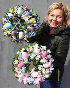 Nautical Wreath for Door, Anchor Wreath, Summer Wreath, Sum Easter Egg Crafts, Easter Projects, Easter Eggs, Easter Bunny, Deco Originale, Diy Easter Decorations, Deco Floral, Easter Holidays, Easter Wreaths